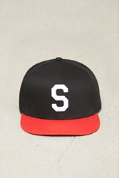 Forever 21 S Embroidered Snapback Hat Black Red