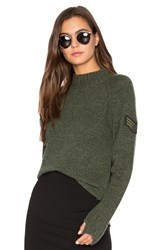 27 Miles Malibu Francoise Mock Neck Sweater Green
