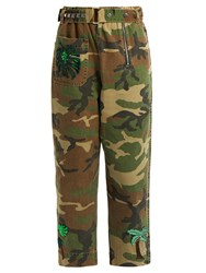 Marc Jacobs Patch Applique Camoulfage Print Trousers Camouflage