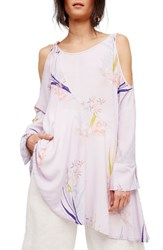 Free People Women's Clear Skies Cold Shoulder Tunic Lilac