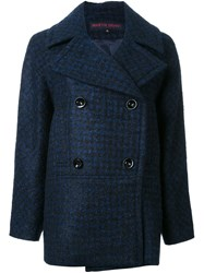 Martin Grant Doube Breasted Coat Blue
