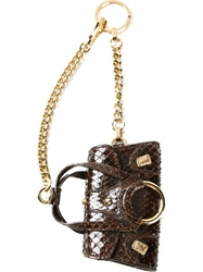 Dolce And Gabbana Handbag Keychain Brown