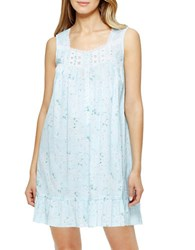 Eileen West Cotton Lawn Chemise Blue