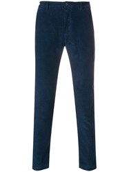 Department 5 Corduroy Skinny Trousers Blue
