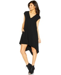 Rachel Rachel Roy Sydney Dress Cap Sleeve V Neck Sheath Dress Black