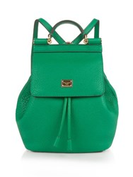 Dolce And Gabbana Sicily Micro Leather Backpack Green