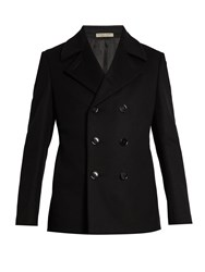 Bottega Veneta Double Breasted Wool Pea Coat Black