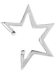 Anna Nina Skewed Star Ear Cuff Silver