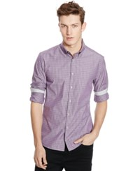 Kenneth Cole Reaction Long Sleeve Slim Fit Mini Ombre Shirt