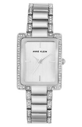 Anne Klein 'S Crystal Bracelet Watch 28Mm X 35Mm