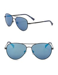Calvin Klein 58Mm Aviator Sunglasses Satin Blue