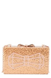 Ted Baker London Bowwe Box Clutch Metallic Rose Gold Col
