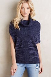 Anthropologie Sleeveless Cashmere Poncho Blue Motif
