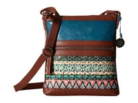 The Sak Pax Swing Pack Teal Tribal Cross Body Handbags Multi