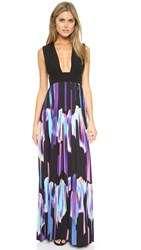 Aq Aq Flame Maxi Dress Black Allure Print