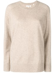 Chinti And Parker Loose Cashmere Sweater Neutrals