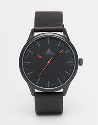 Asos Watch In Black With Red Details Red