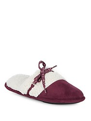 Isotoner Microsuede Slippers Henna