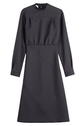 Jil Sander Vajolet Virgin Wool Dress Blue