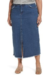 Glamorous Plus Size Women's Denim Maxi Skirt