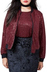 Rachel Roy Plus Size Women's Sequin Bomber Jacket
