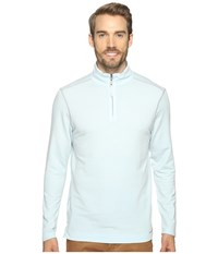 True Grit Lightweight Tencel Zip Pullover W Heather Trim Pale Pool Men's Clothing Blue