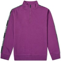 Napapijri Tribe Beja Taped Seam 1 4 Zip Track Jacket Purple