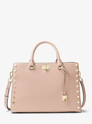Michael Michael Kors Sylvie Large Studded Leather Satchel Pink