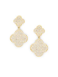 Freida Rothman Cubic Zirconia 14K Yellow Gold And Sterling Silver Drop Earrings No Color