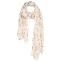 Fat Face Dragonfly Textured Scarf Ivory