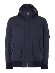 Duck And Cover Travel Lightweight Nylon Jacket Dark Navy