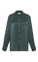 Asceno Jade Star Pajama Top Green