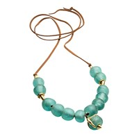 By Natalie Frigo Large Claw And Glass Necklace Multi