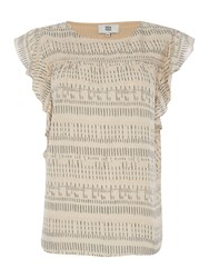 Noa Noa Short Sleeve Top Nude