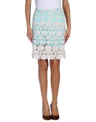 Roberto Collina Knee Length Skirts Turquoise