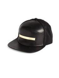 Melin The Bar Cap In Leather And Suede Red Black