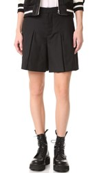 R 13 R13 Pleated Shorts Black