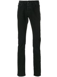 Balmain Pierre Slim Fit Jeans Cotton Spandex Elastane Black