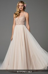 Watters Women's Ora Strapless Tulle Gown
