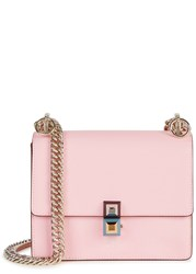 Fendi Mini Pink Leather Shoulder Bag Light Pink