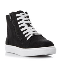 Steve Madden Earnst Lace Up High Top Trainers Black
