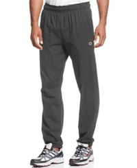 Champion Jersey Pants With Banded Bottom Granite Heather