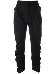 Stella Mccartney Ruched Cropped Trousers Black