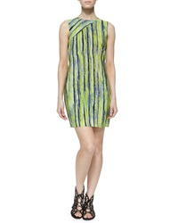 Andrew Marc New York Andrew Marc Sleeveless Citron Striped Dress