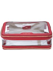 Anya Hindmarch Touch Down Cosmetic Bag Red