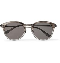 Brioni Round Frame Acetate And Ruthenium Sunglasses Gray