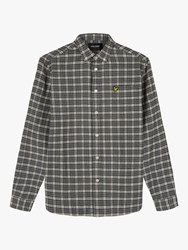 Lyle And Scott Check Flannel Shirt Grey Sesame
