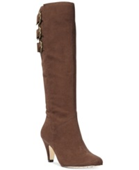Bella Vita Transit Ii Wide Calf Tall Dress Boots Women's Shoes Brown Suede