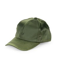 Collection 18 Satin Baseball Cap Olive