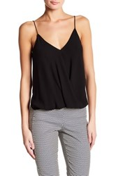 Theory V Neck Sleeveless Hi Lo Silk Blouse Black